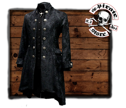 'ORDER OF THE DRAGON COAT – BLACK VELVET BROCADE