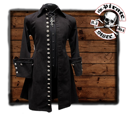 GALLEON PIRATE COAT – BLACK DENIM