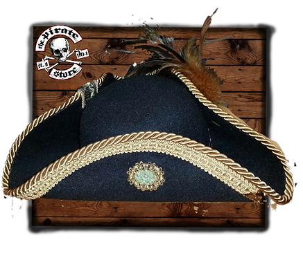 Black Wool Felt Pirate Captain Hat