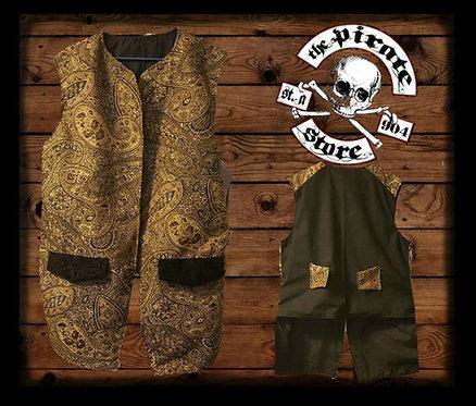Gold and Black Paisley Waistcoat