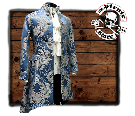'ORDER OF THE DRAGON COAT – ICE BLUE BROCADE