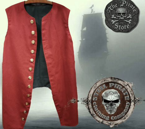 Red duck clothe Jack Vest
