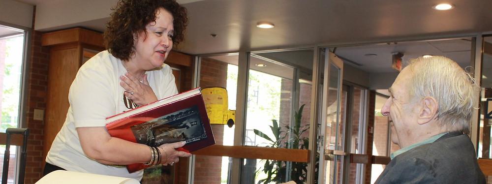 Devoted fan Jan Galyen expresses her appreciation to Daniel Selznick