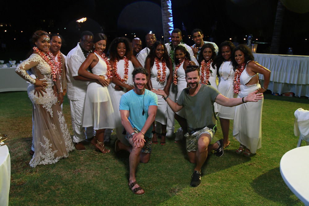 Matt Anderson & Nate Green with the cast of Married to Medicine