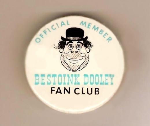 Bestoink Dooley Fan Club Button, Photo Credit: Horror Host Graveyard