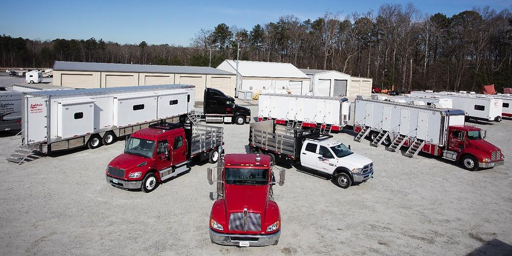 Fleet of vehicles at Lightnin'