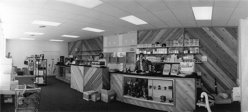 Bob Khoury and Warren Steinberg in their first store in 1976
