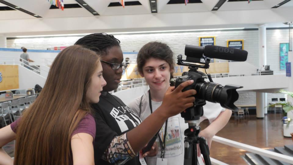 Juliette Beckham, Taylan Ayree- Jones, Erin Cohen at CampFlix