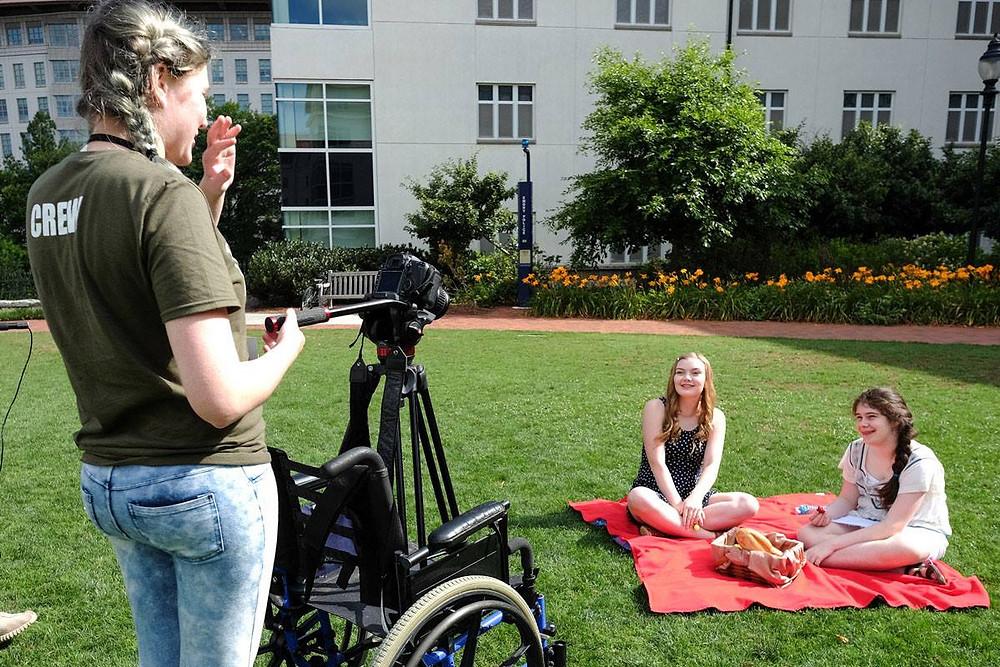 Peri Barnard with Cara Jenson and Zoe Falcon
