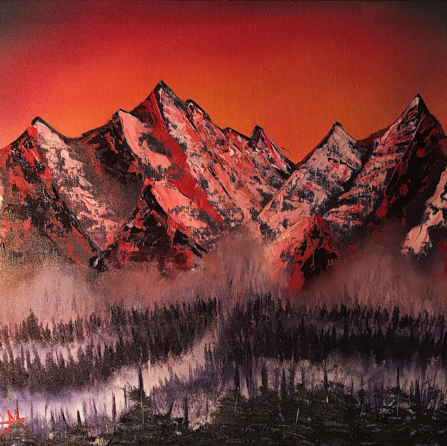 Burning Mountains 16x20 (Oil on Panel)