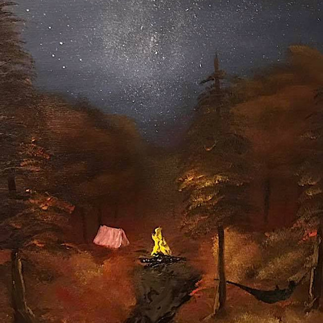 Camping Under the Stars 16x20 (Oil on Panel