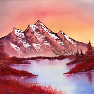 Mountains Beyond 18x24 (Oil on Panel)