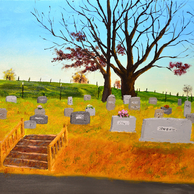Our Cemetery 12x16 (Oil on Panel)