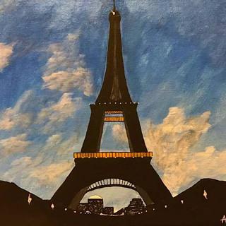 Busy Eiffel 11x14 (Acrylic on Panel)