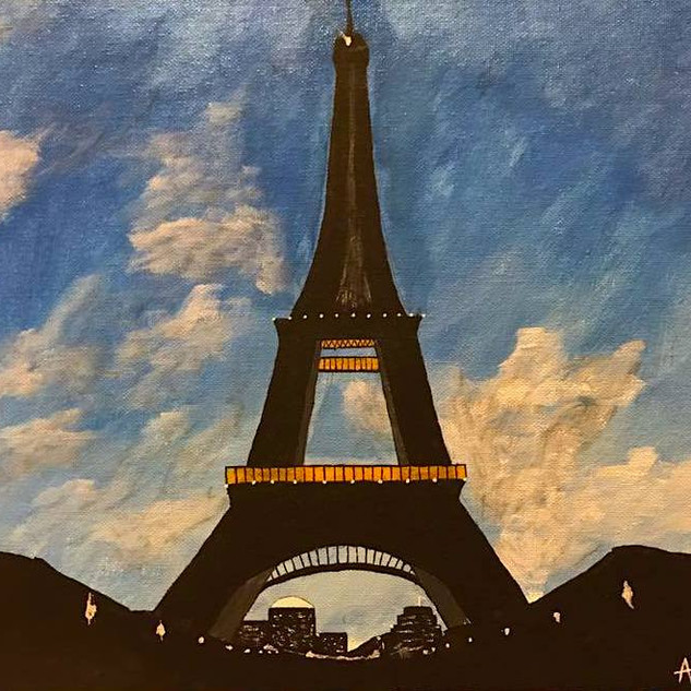 Busy Eiffel 11x14 (Acrylic on Panel)