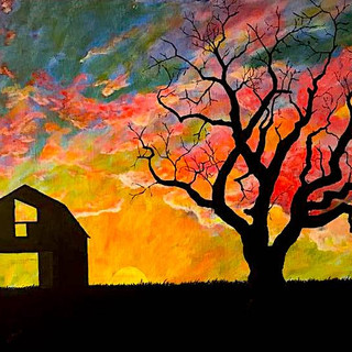 Beauty Under the Withered Tree #2 18x24 (Acrylic on Panel)