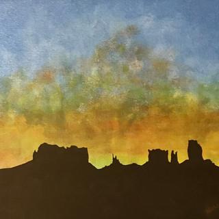Big Sky Canyons 11x14 (Acrylic on Panel)