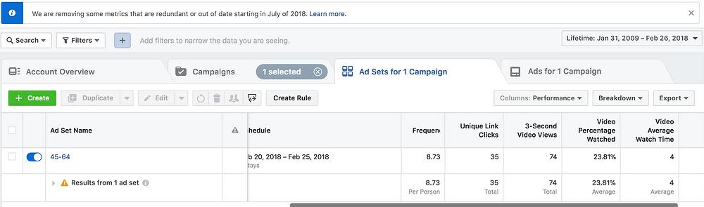 Facebook Ads Metrics