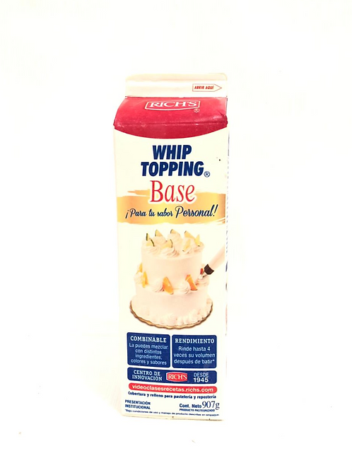 WHIP TOPPING BASE - RICH'S