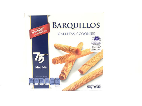 GALLETAS BARQUILLOS 300G - MAC'MA