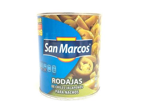 CHILES JALAPEÑOS RODAJAS - SAN MARCOS