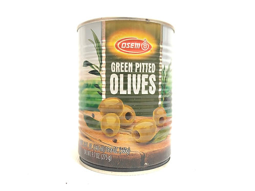 GREEN PITTED OLIVES - OSEM