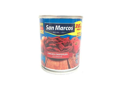 CHILES CHIPOTLES ADOBADOS 120G - SAN MARCOS
