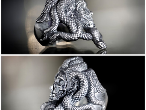 【 Guardia * LegioMade 】聯名梅杜莎·半骸半解剖戒指