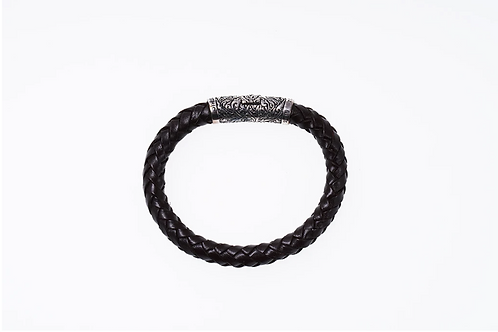 [ZOCALO] Braided Leather Bracelet : DBR