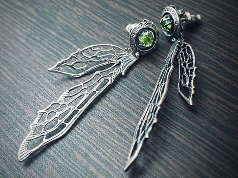 【 Gimmel Garden 】「 囁き飛行士 」耳環