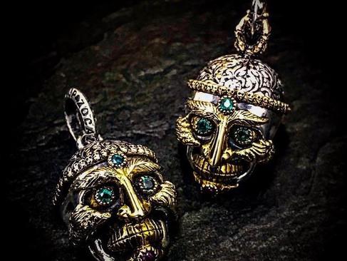 【ZOCALO】Tibetan Skull Pendant (S)