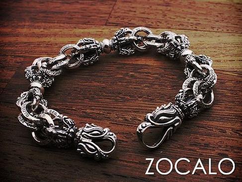 【 ZOCALO 】 Double Linked Tibetan Dragon Dorje Bracelet
