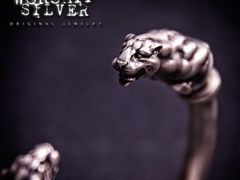 ANIMAL-WORSHIP SILVER 豹頭手鐲 Panther Bangle