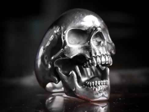 "【 RatRace 】""Standard Skull Ring "" — 「阿」"