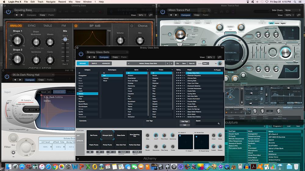 Logic Pro X plug-ins. Screenshot by Michele Leonard