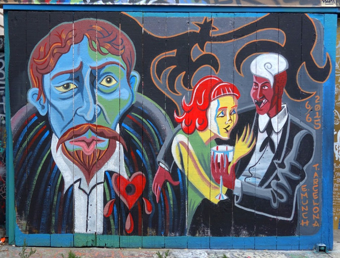 """Tristian Chase Arcelona """"Alley Mural"""""""