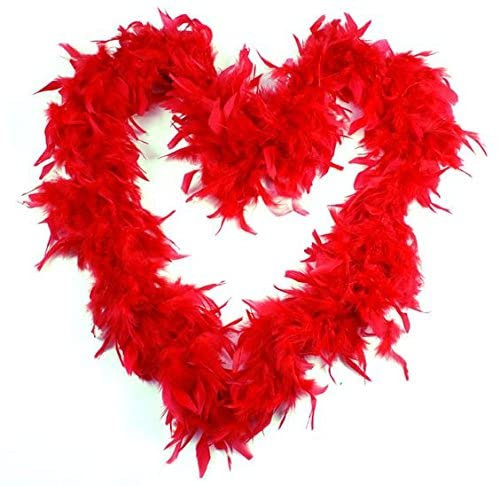 6ft Red Feather Boas (Pack of 6)