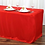 Thumbnail: 6ft Red Fitted Rectangular Linen