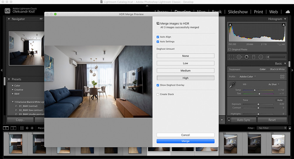 Етапи створення HDR фото у лайтрум