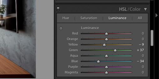 Налаштування кольорової гами фото