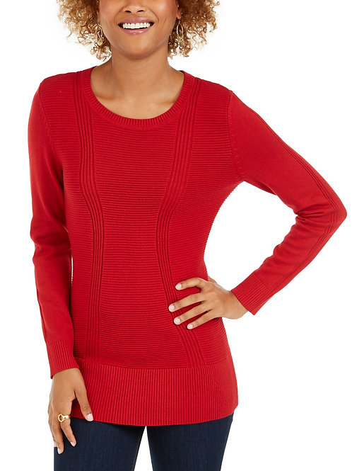 Medium/ Large Women's Mixed-Stitch Sweater With Logo & Name