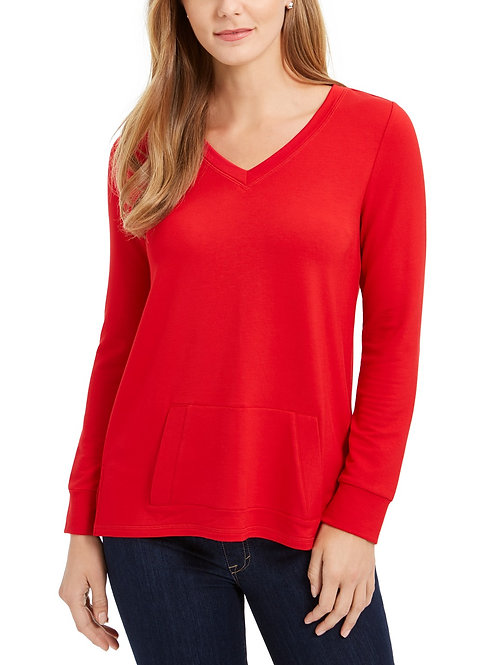 Medium/ Large French Terry V-Neck Tunic With( PPT Logo Only)
