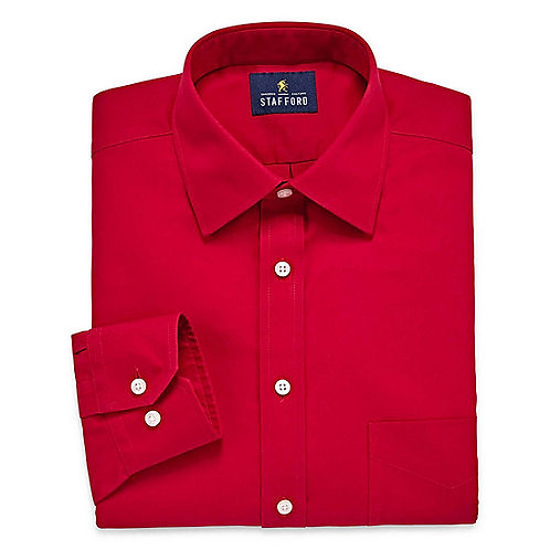 Large Non-Iron Oxford Mens Long Sleeve Stretch Dress Shirt (PPT Logo & Name)