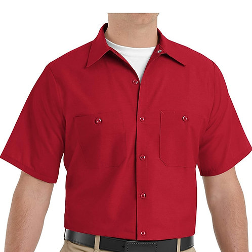 Large Red Kap Men's Shirt, Short Sleeve (PPT Logo & Name)