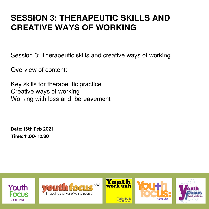 Therapeutic Skills And Creative Ways of Working (Session 3)