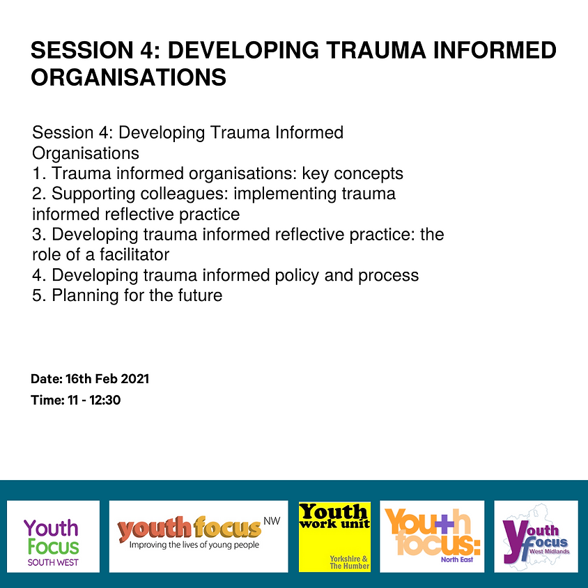 Developing Trauma Informed Organisations (Session 4)