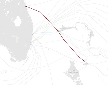 Submarine Cable from Nassau to Vero Beach, Florida.