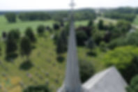 Aerial picture. Old Church spire