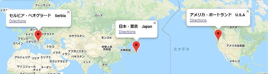 渌水堂海外拠点地図