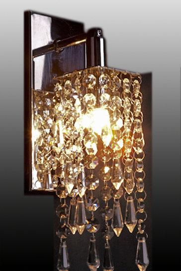 Arandela de Cristal com Pingente Pirulito - IH 355-1